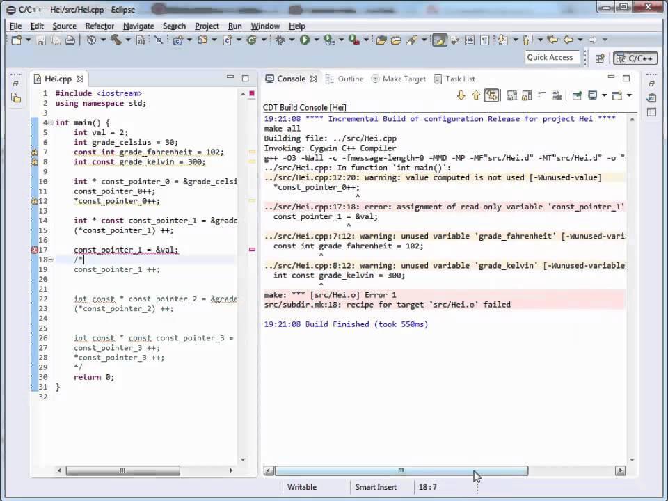 Tutoriale Video C++ despre keyword-ul const nr. 27