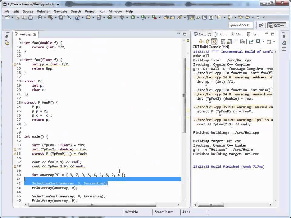 Tutoriale Video C++ despre pointeri la functii nr 26.