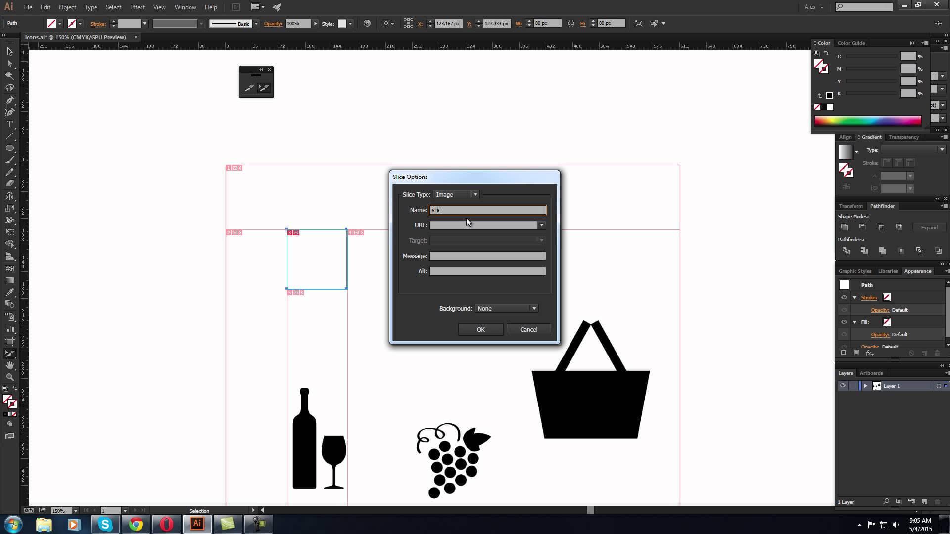 Despre slice tool din Adobe Illustrator