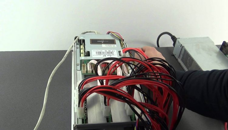 Instalarea si prima pornire a aparatului Antminer s7 bitcoin