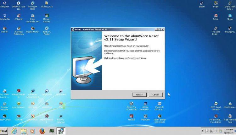 Program ce simuleaza repornirea calculatorului