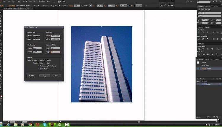 Tutoriale Video Adobe Illustrator cum folosim efectul de mozaic