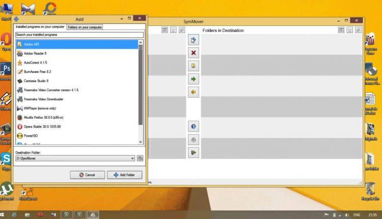 SymMover – Muta programele instalate