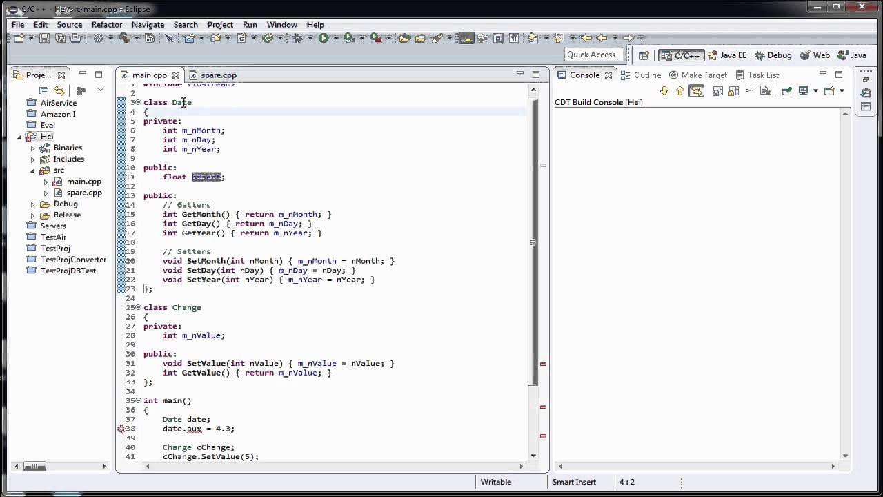 Tutoriale Video C++ nr. 35 despre functii de acces in cadrul unei clase si despre incapsulare