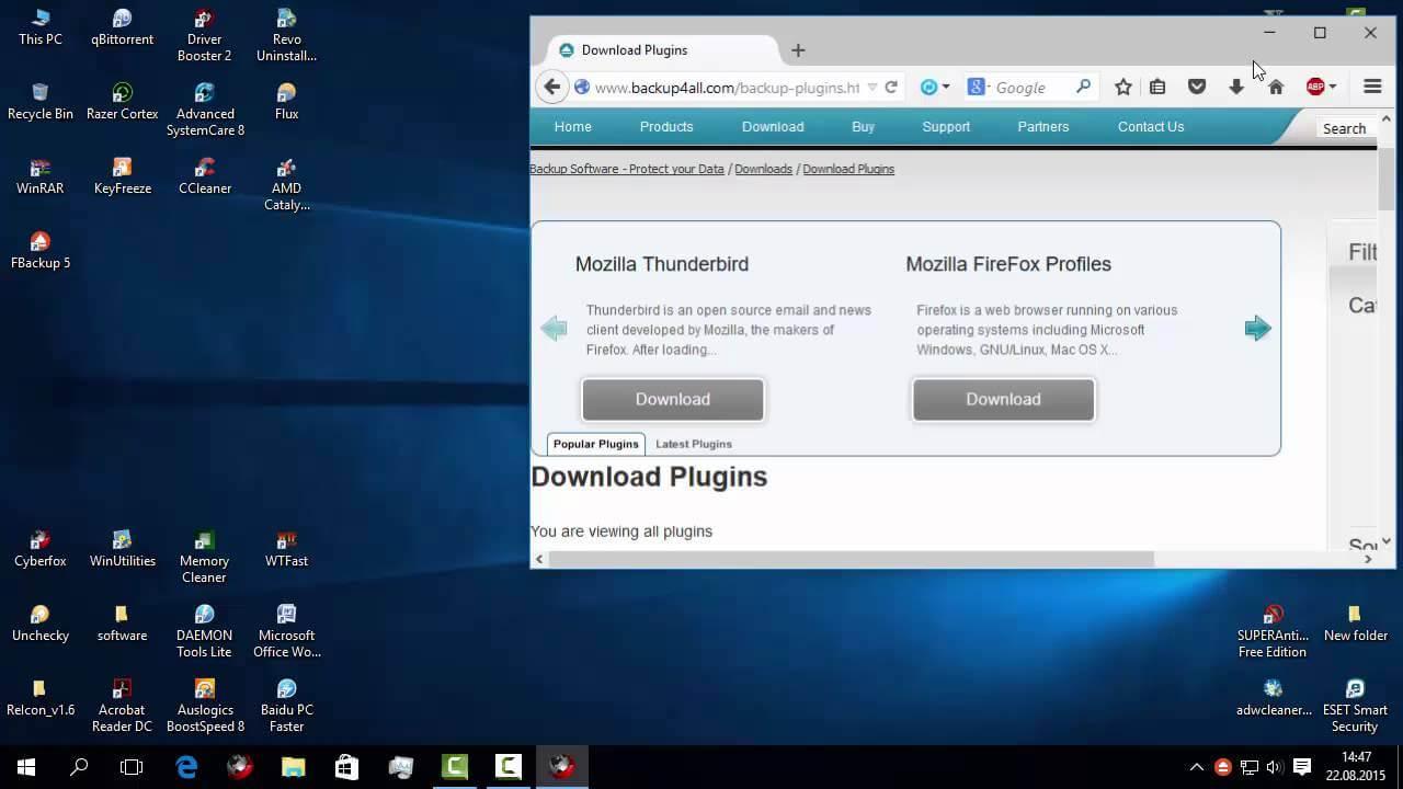 Backup și restaurare a programelor instalate în calculator