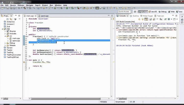 Tutoriale Video C++ nr. 36 despre constructori
