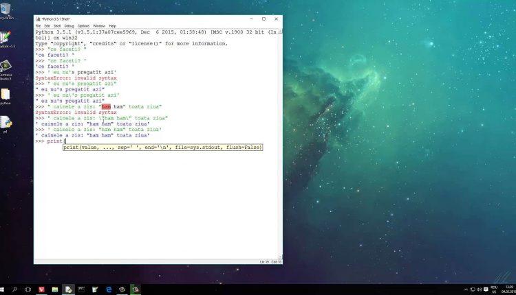 Tutoriale Video Python nr. 4 despre siruri de caractere si cum pot fi prelucrate acestea