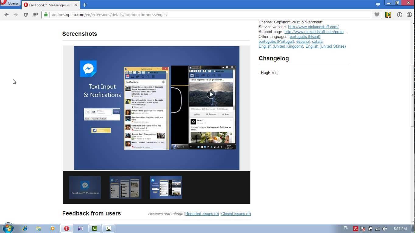 Facebook Messenger pe desktop