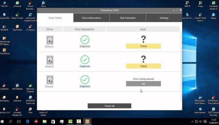 Program de verificat și reparat erorile hard disk-ului