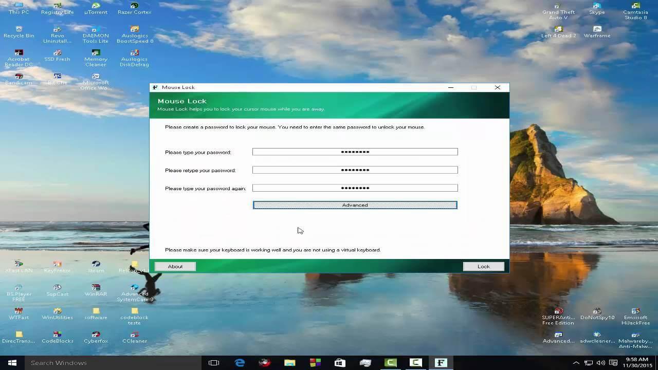 Blochează sistemul de operare, tastatura și mouse-ul calculatorului cu Mouse Lock