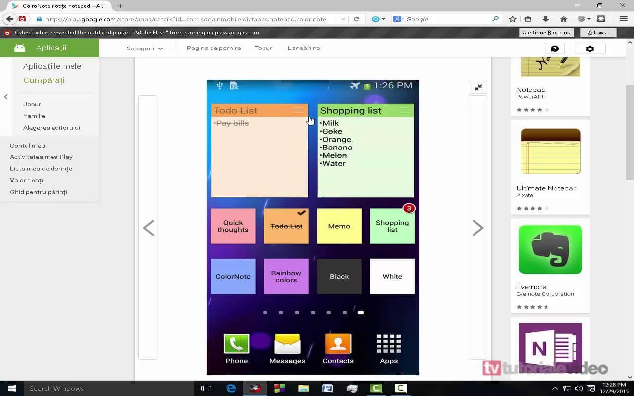 ColorNote,o aplicatie de notite pentru Android pe care pana si un agent secret o va folosi