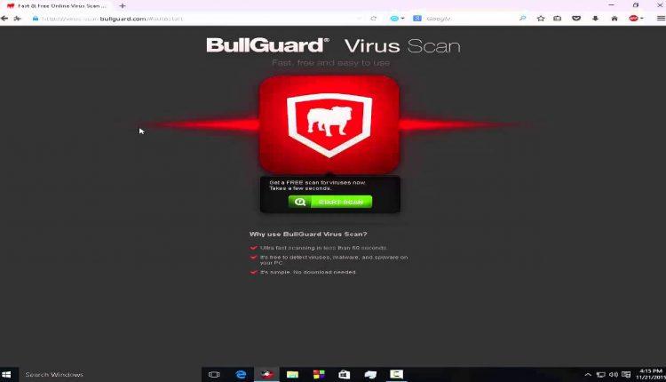 Scanează online procesele care rulează în calculator cu BullGuard Virus Scan
