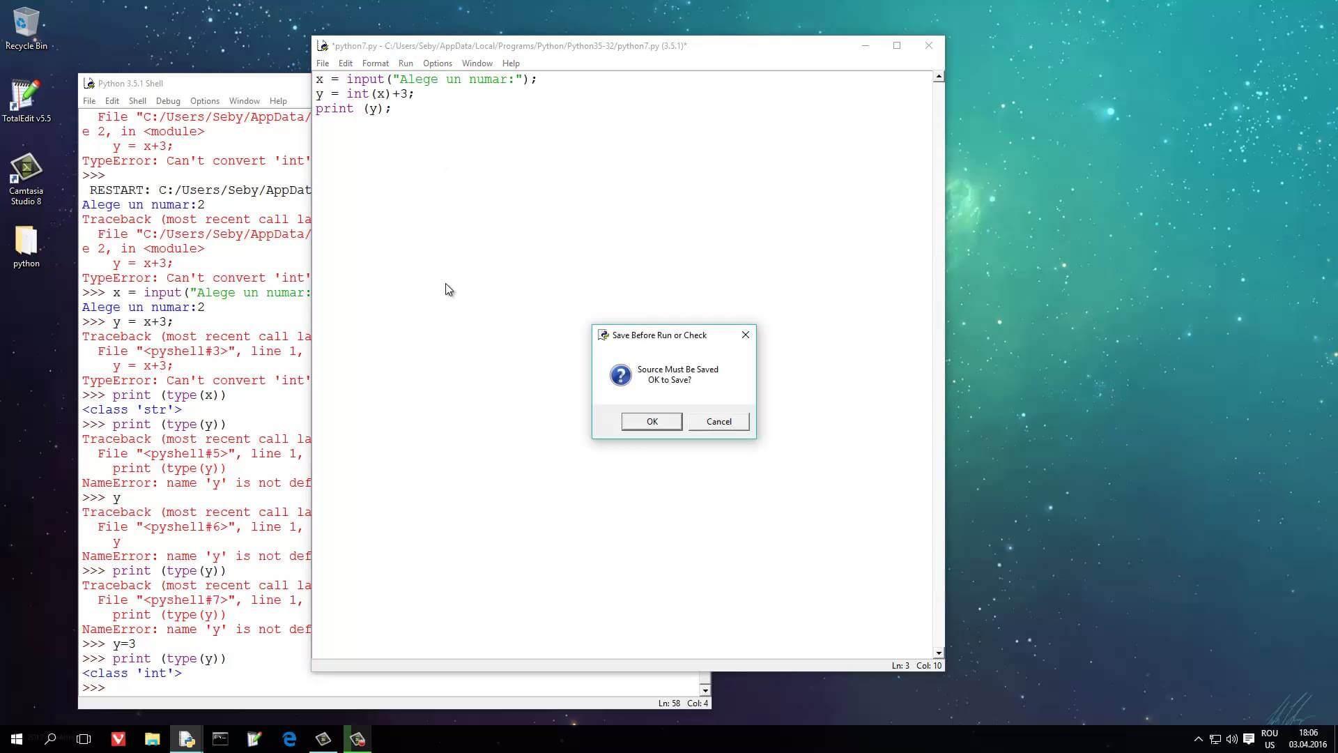 Tutoriale Video Python nr. 7 cum sa introducem datele de la tastatura si cum le asignam variabilelor noastre