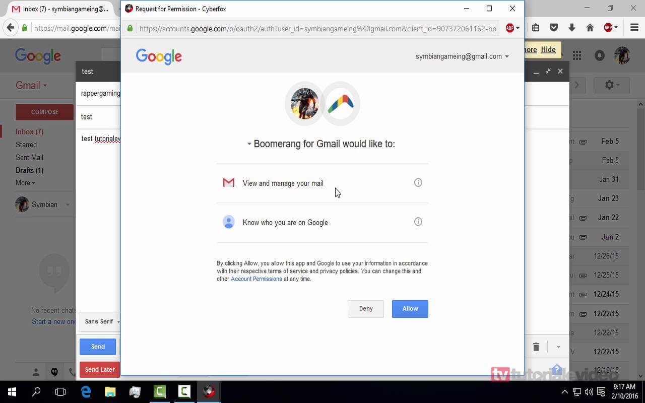 Cum programam trimiterea gmail-urilor automat catre anumite persoane