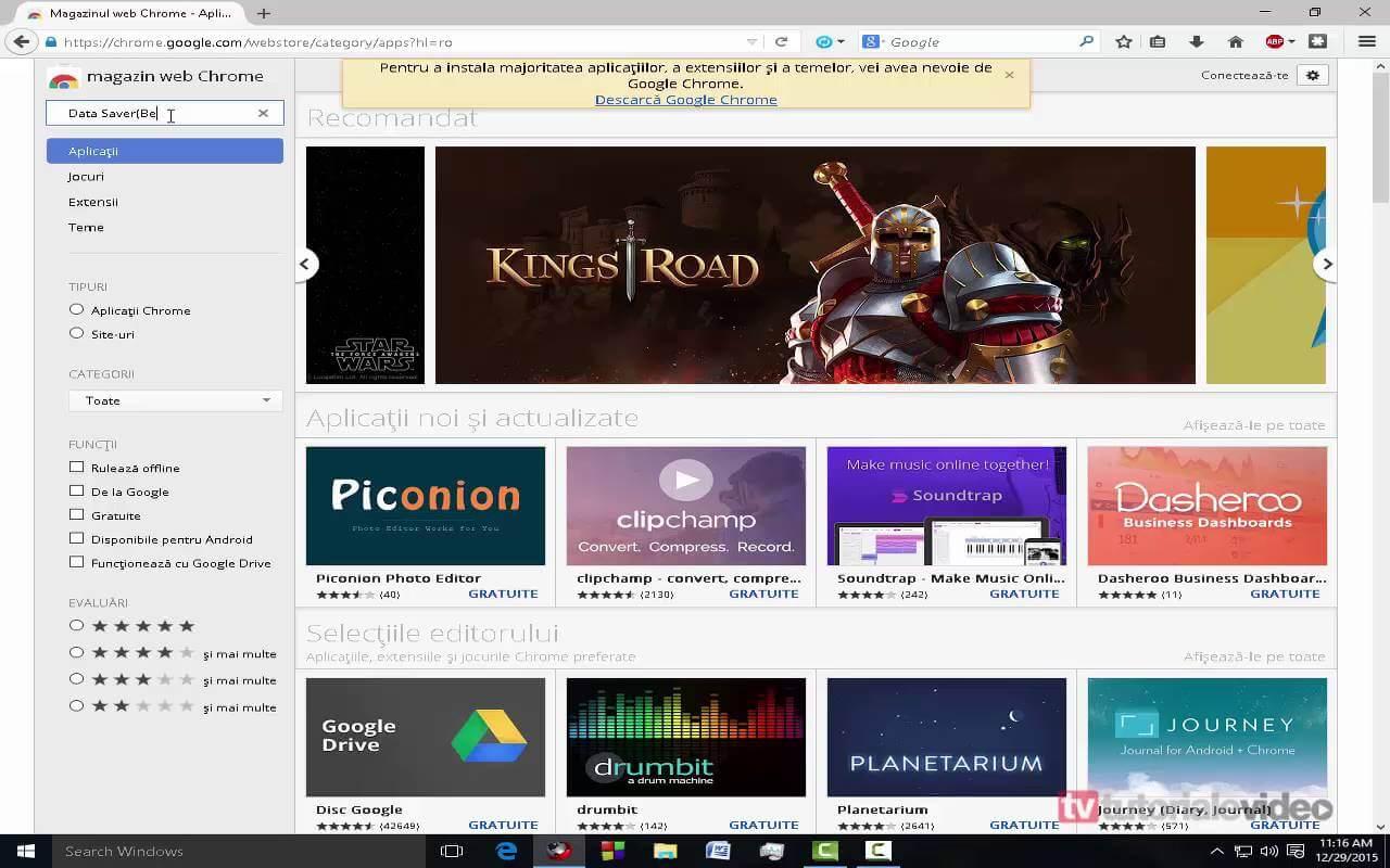 Cum putem reduce rata de utilizarea a datelor pentru internet in browser-ul Google Chrome