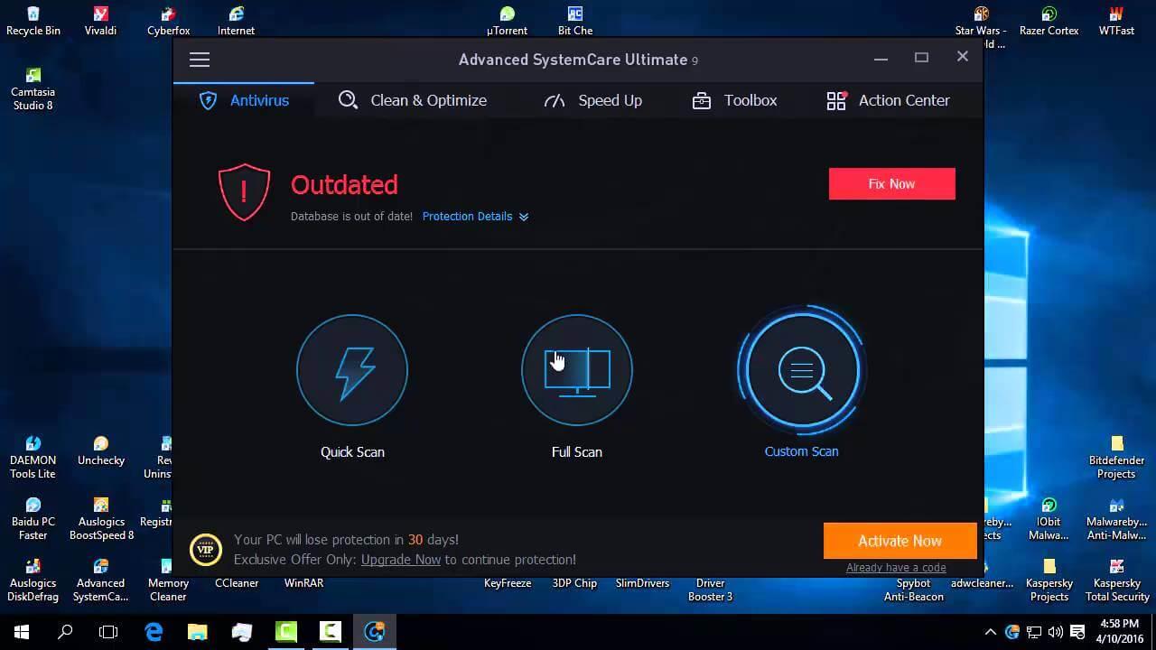 Advanced Systemcare Ultimate,ce face si cum il utilizam
