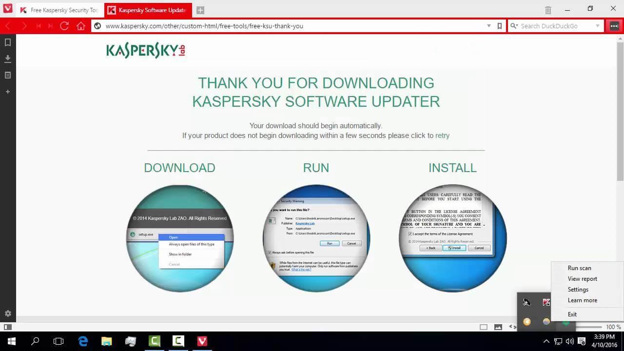 Kaspersky Tools,niste unelte ce ne protejeaza si curata sistemul de operare