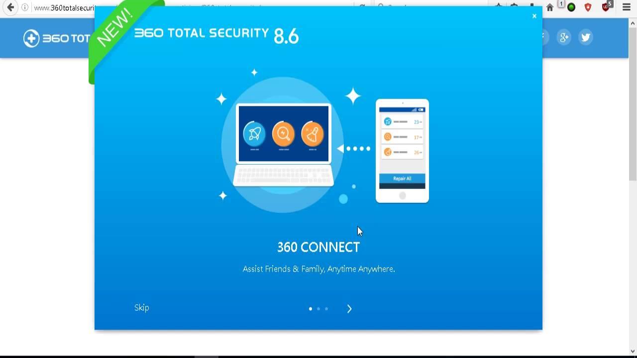 """360 Total Security este un antivirus,care de la ultimile actualizari incoace a devenit """"killer"""" in ceea ce priveste amenintarile online"""