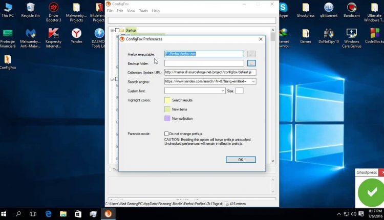 ConfigFox, cea mai simplă și rapidă metodă de configurare a browserului Firefox