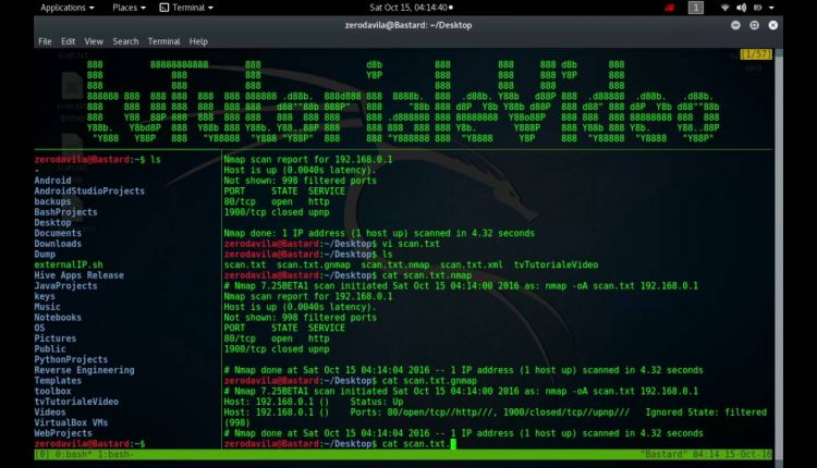 Optiunile de output in nmap troubleshooting si debugging