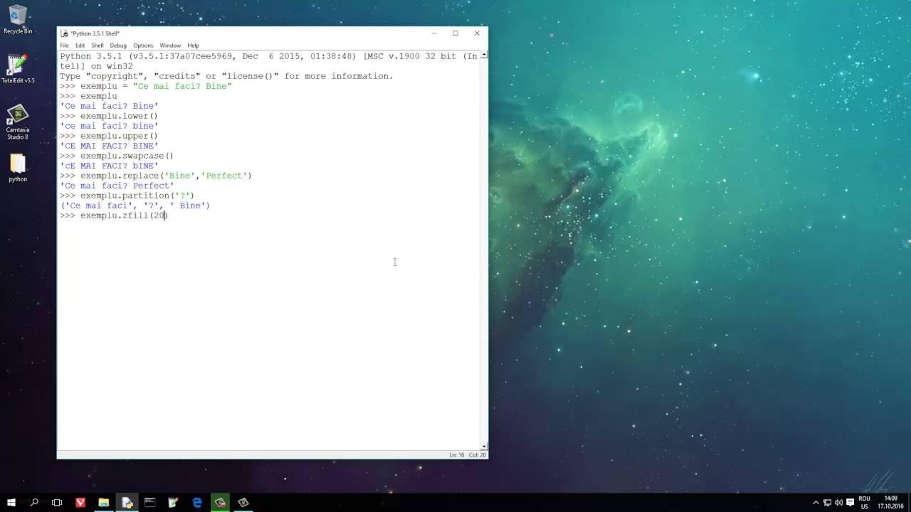 Python 17 despre metode ce prelucreaza simplu si rapid sirurile de caractrere