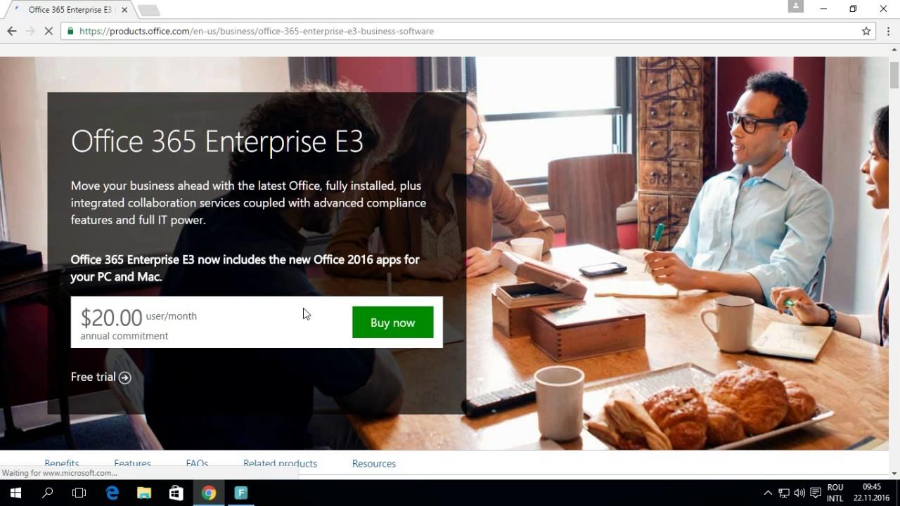 Office 365 – Introducere : Descrierea pachetelor Office365 si cum se creeaza un cont trial