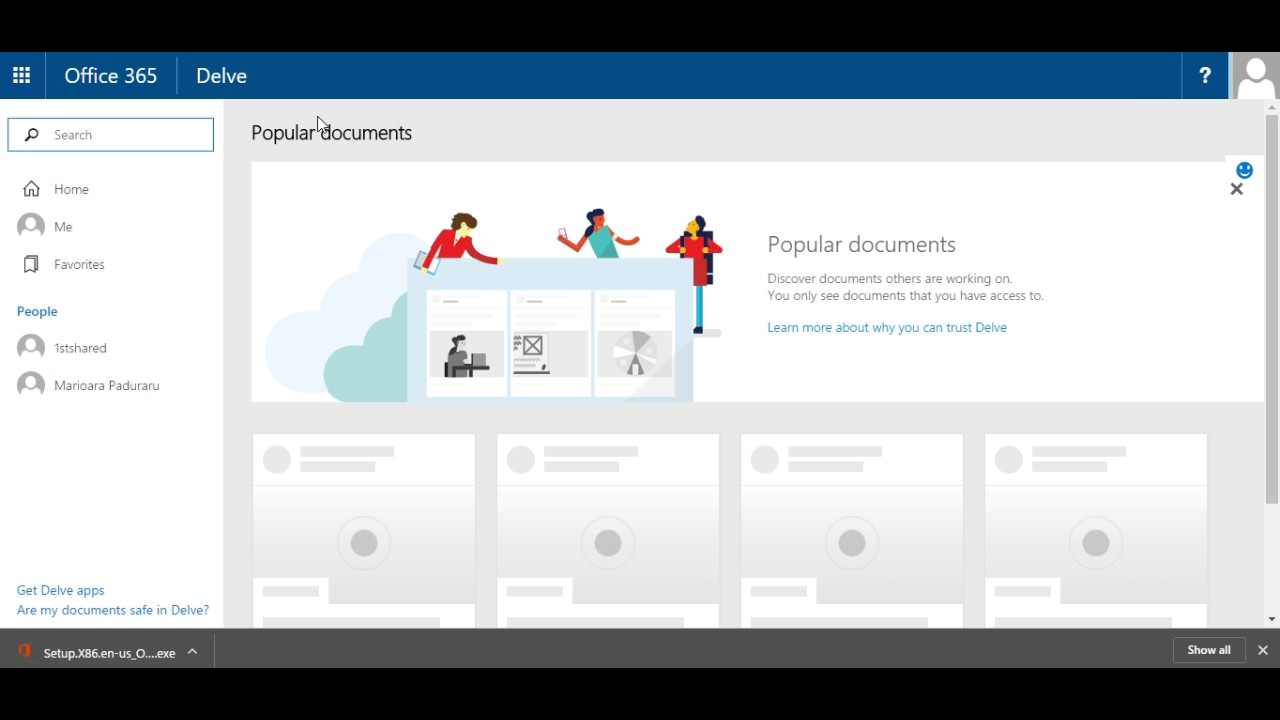Office 365 – Introducere : Introducere in interfata Office365 si aplicatii