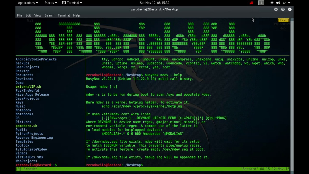 Tutoriale Video Busybox -12- despre lsmod,lzcat, lsma, lzop, lzopcat, md5sum si mdev