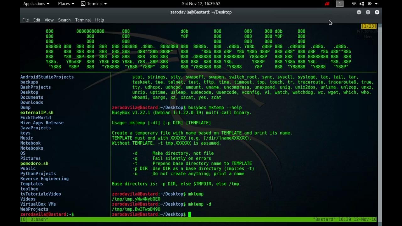 Tutoriale Video Busybox -13- despre mkfifo,mknod, mkswap,mktemp, modinfo, modprobe, more si mount
