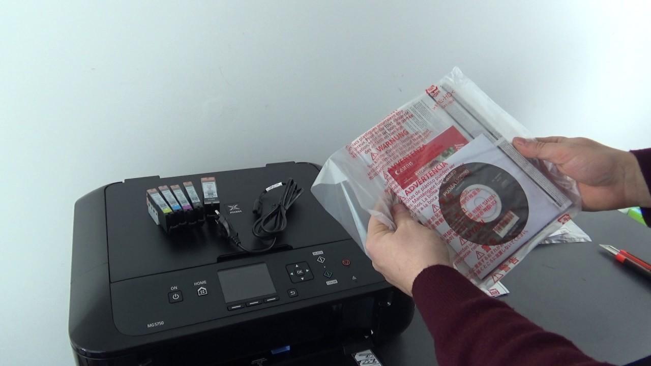 Unboxing Imprimanta Pixma MG5750