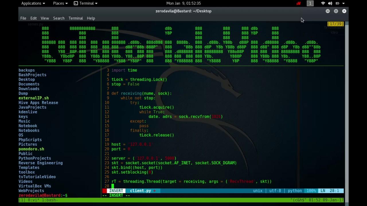Crearea unui server in python care poate primii date de la clienti