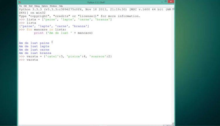 Invata Python Tutorial Video nr. 25 despre structuri repetitive
