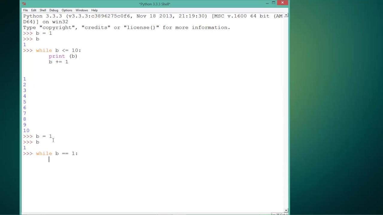 Tutoriale Video Python structuri repetitive de tip 'while' nr. 27