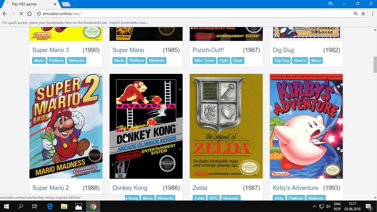 Cum poti juca in browser toate jocurile retro Nintendo, NES si Sega ?