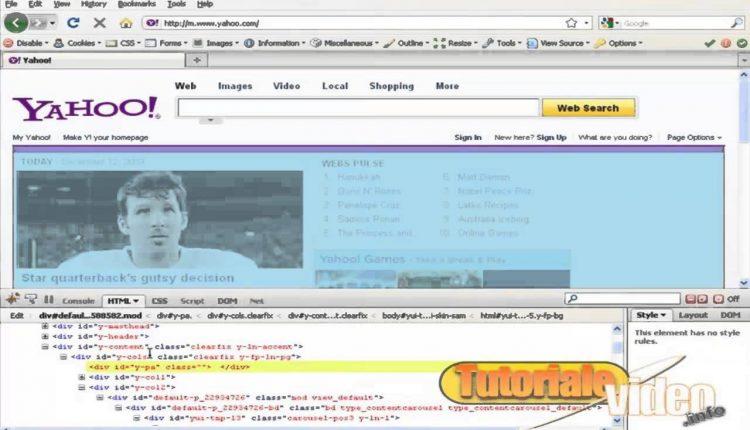 Modificare sursa html+css direct pe net