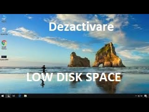 Dezactivare notificare Low Disk Space din Windows
