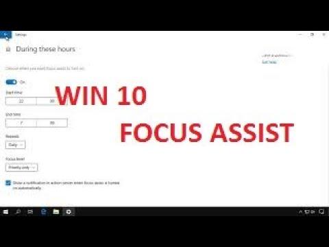 Oprirea notificarilor din Windows 10 cu Focus assist