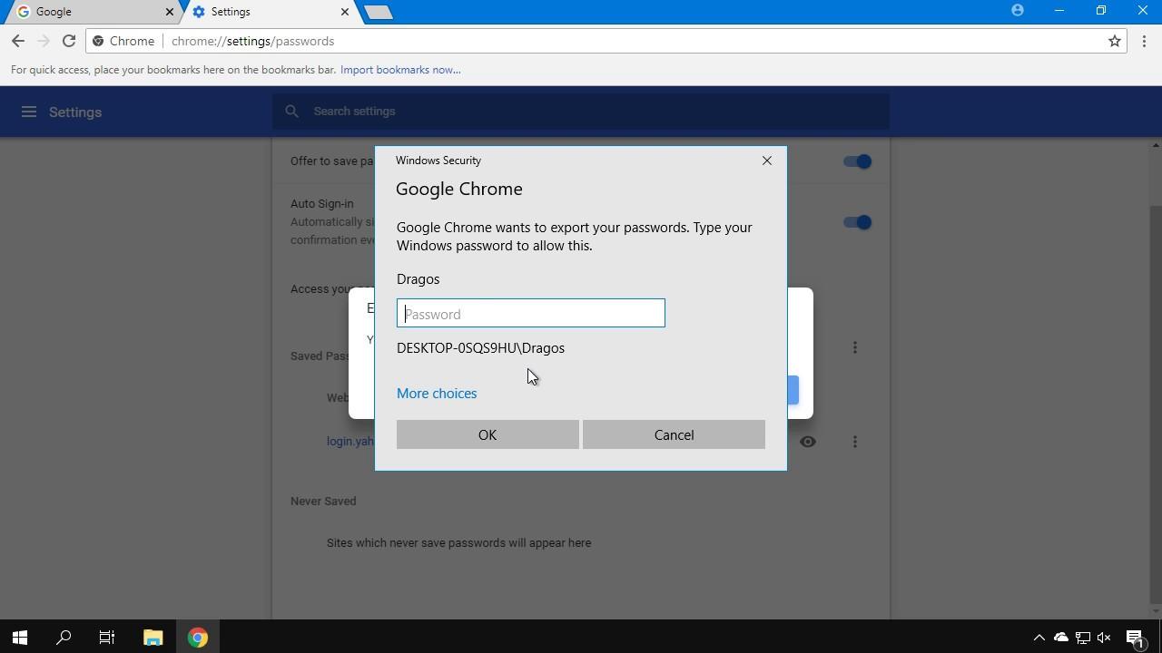 Cum faci backup la parolele salvate in Google Chrome ?