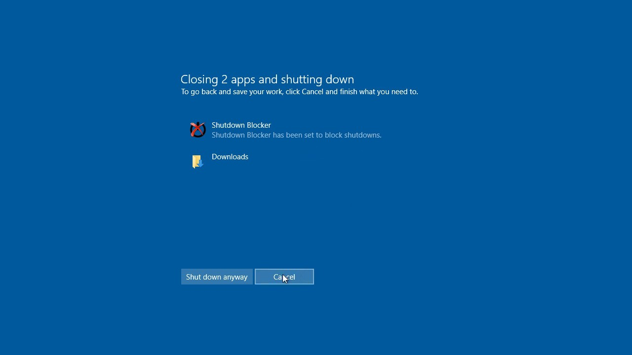 Blocheaza oprirea sau repornirea accidentala a PC-ului