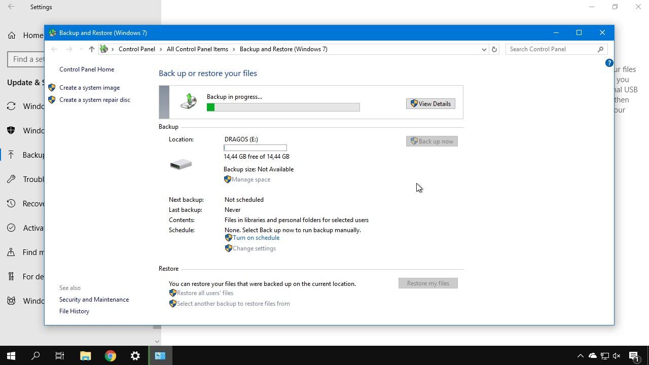 Cum facem backup la un utilizator din Windows ?