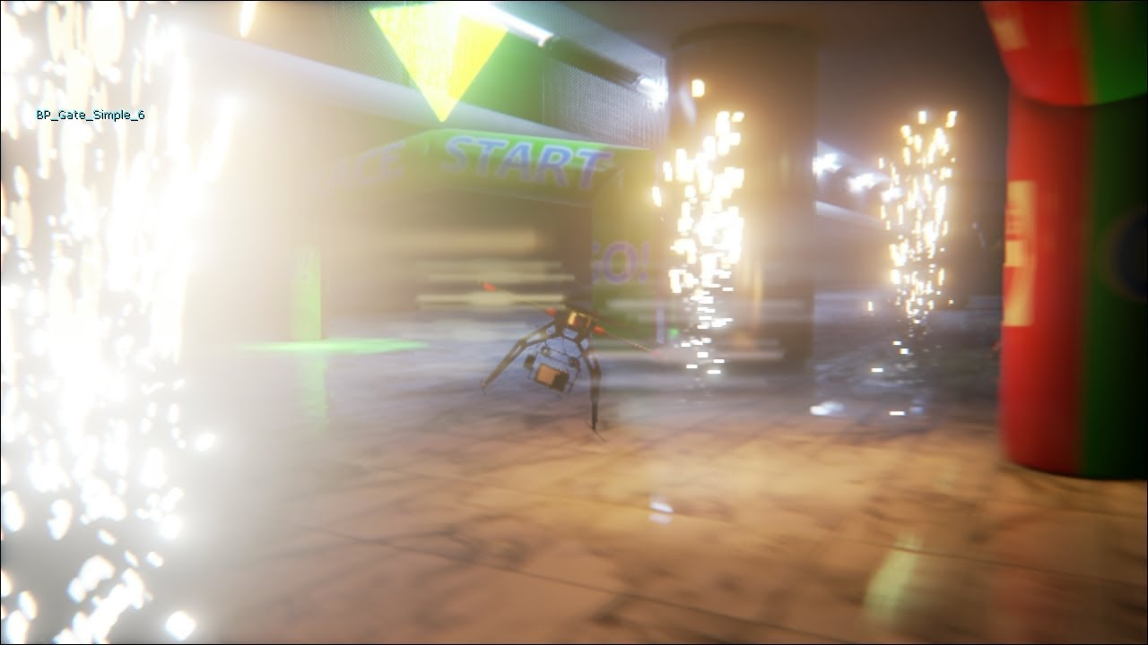 Unreal Engine 4: Quad Copter Checkpoints test